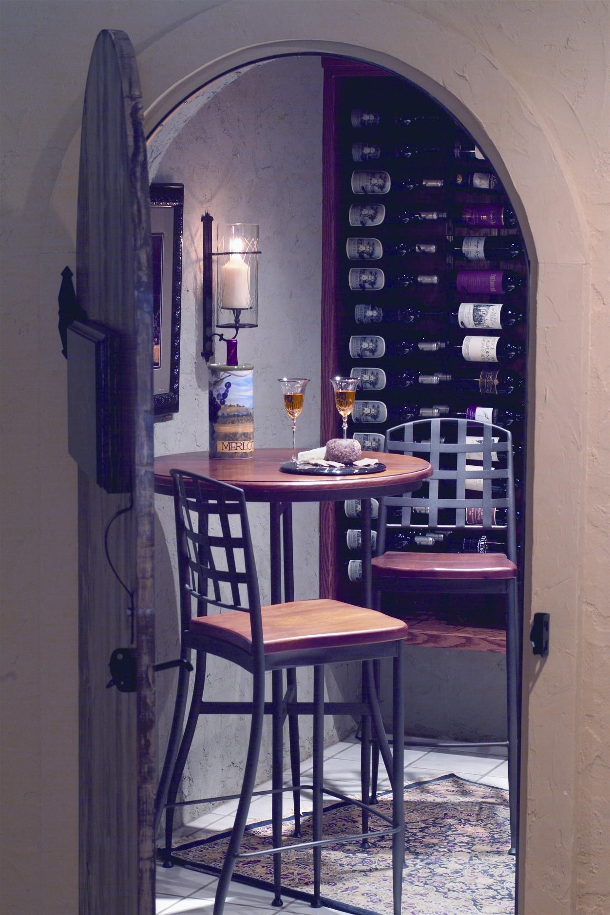 Arched door cellar