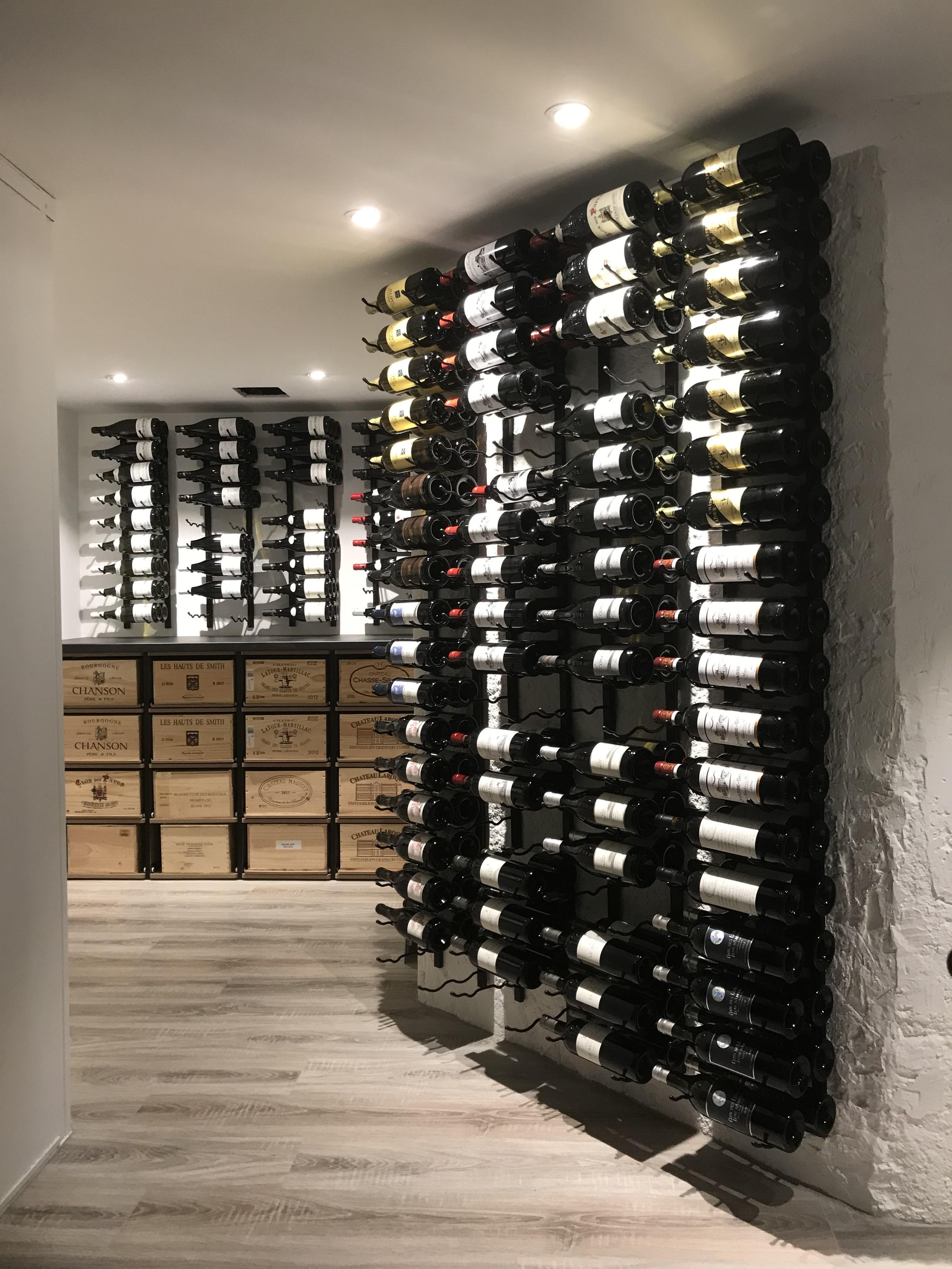 Support A Bouteille De Vin Mural cellarview.ch | innovant et contemporain
